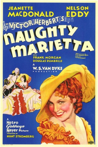 "The poster for the hugely popular 1935 movie version of ""Naughty Marietta""."