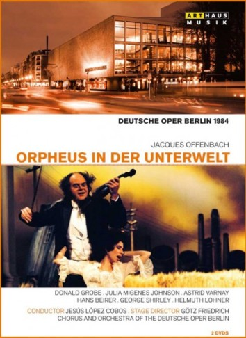 "DVD cover of the Berlin ""Orpheus"" production by Götz Friedrich."