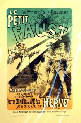 "Poster for ""Petit Faust"" with a cross-dressing Mephisto."