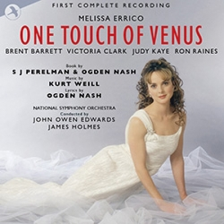 "The cover of the new complete ""One Touch of Venus"" recording on JAY Records."