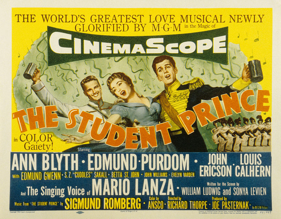 "The ""Student Prince"" in a Hollywood-Cinemascope version."