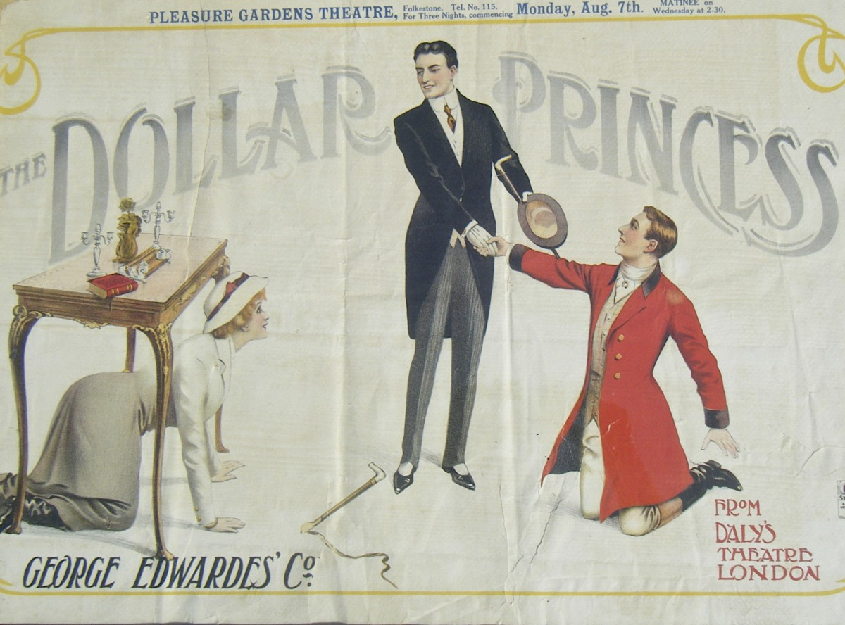 "Poster for Leo Fall's ""The Dollar Princess,"" 1911."