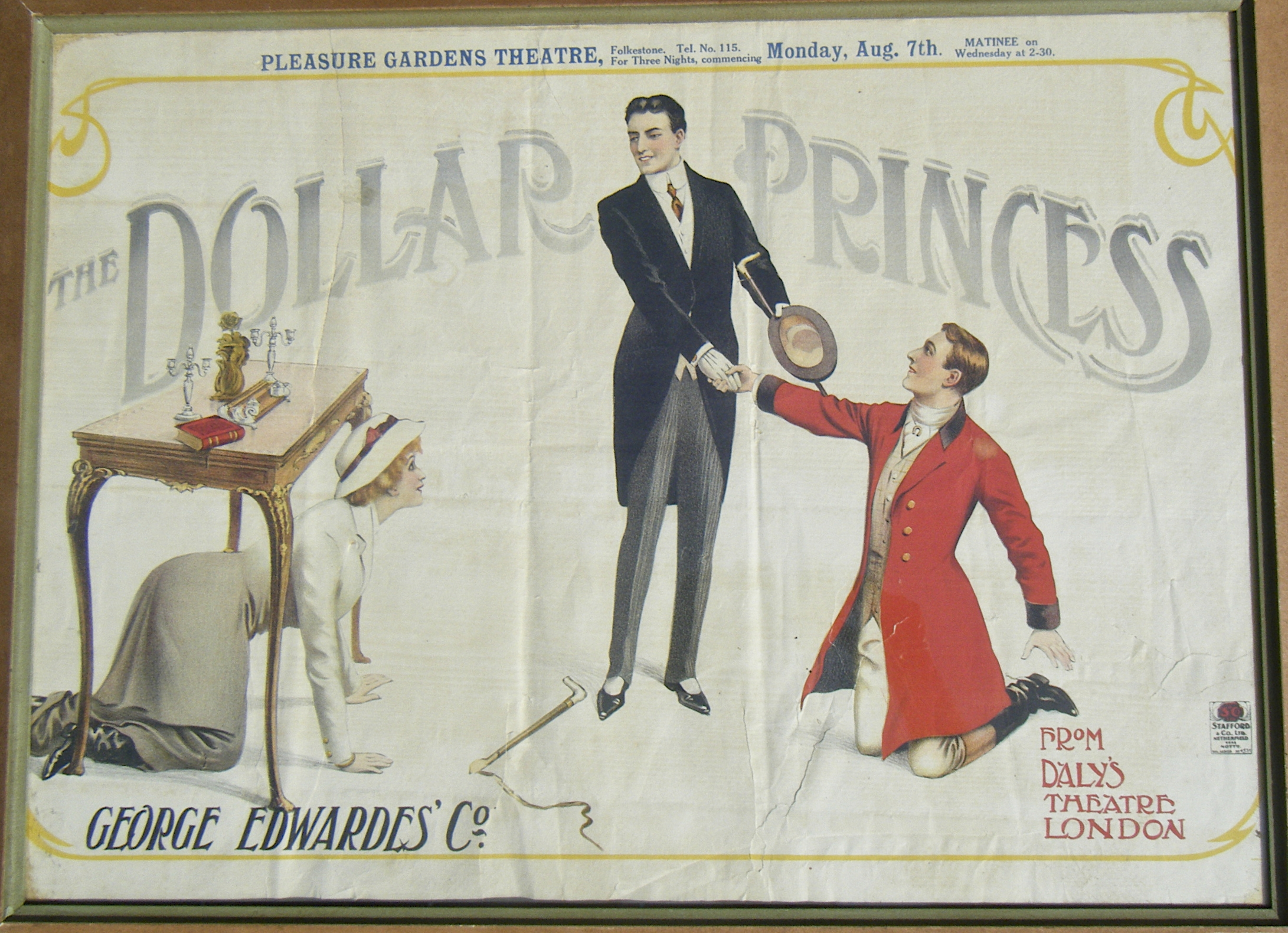 "Poster for Leo Fall's ""The Dollar Princess."""