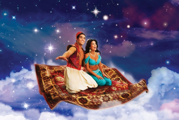 "The flying carpet scene from the stage version of ""Aladdin"", 2014."