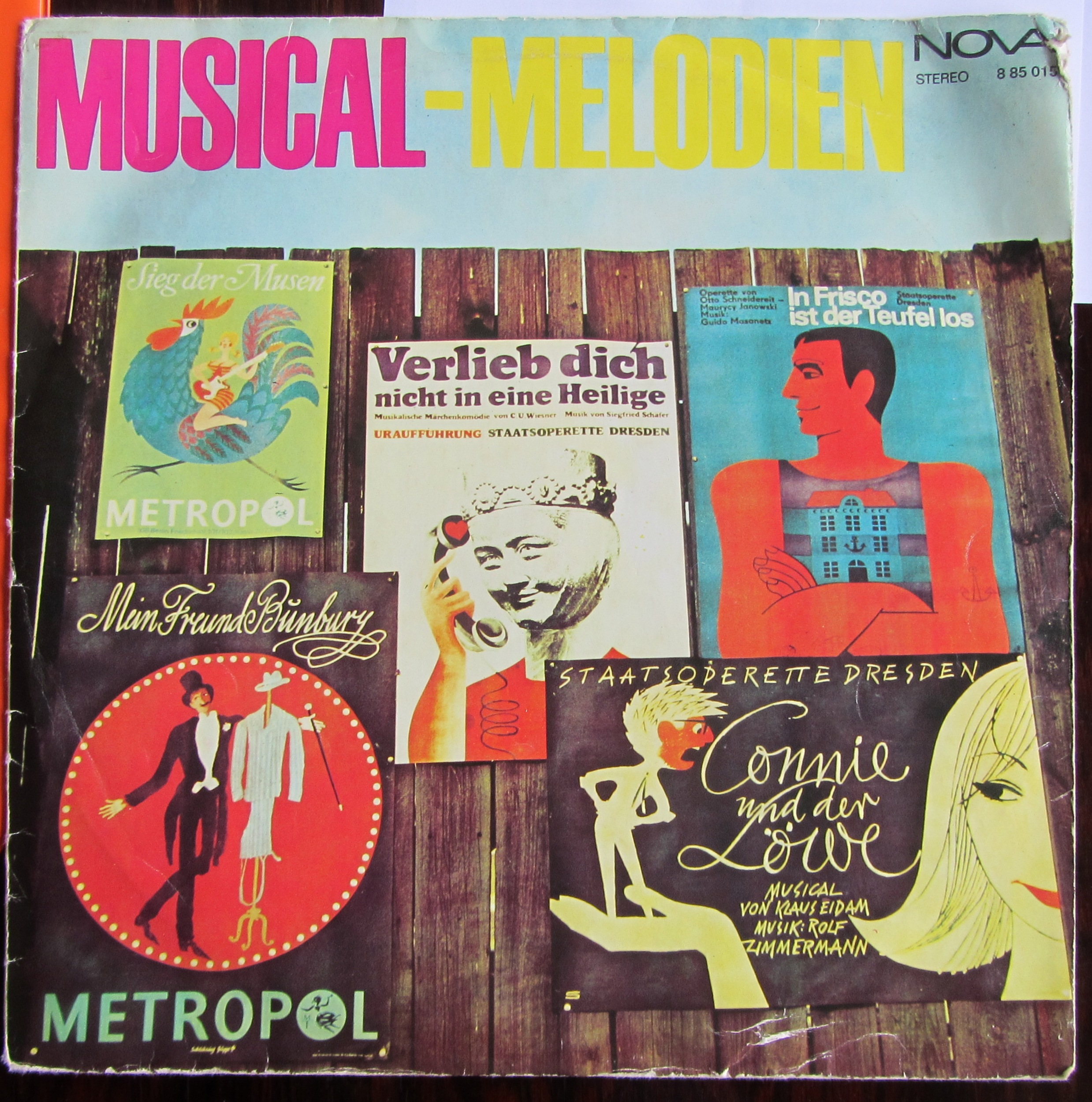 "A vintage LP with some of the greatest hits from the DDR, including ""Mein Freund Bunbury""."