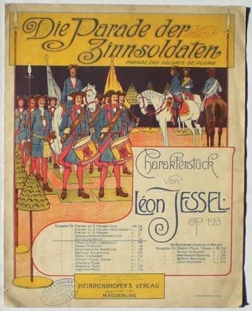 "Sheet music cover for ""Die Parade der Zinnsoldaten""."