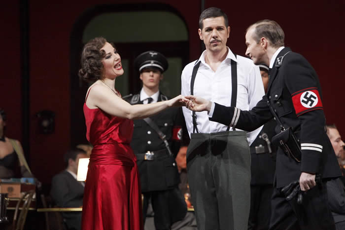 "Peter Bording as Edwin, in a ""Nazi"" version of ""Die Csárdásfürstin"" in Essen, Aalto Theater 2010."
