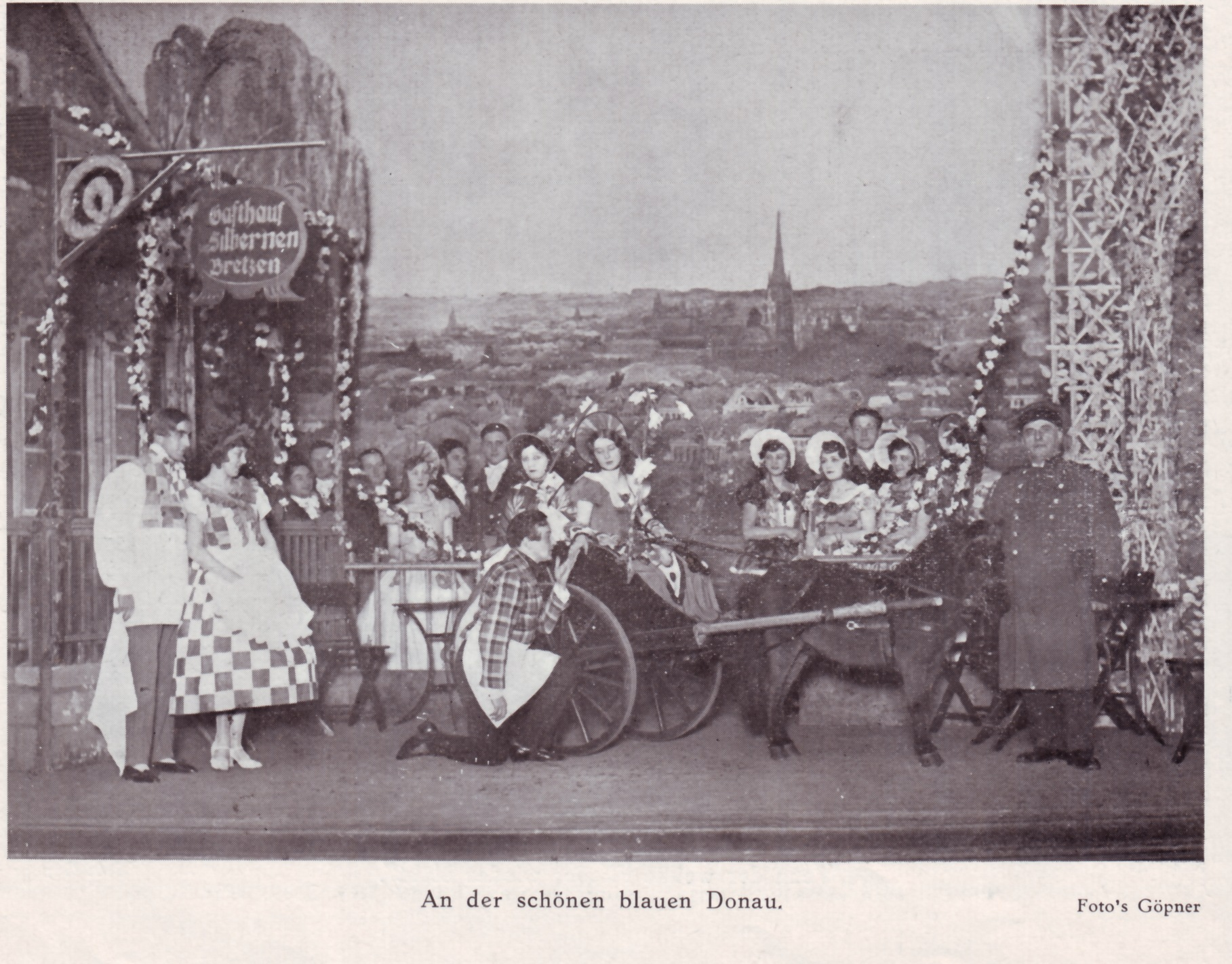 "Scene from the Fritz Hirsch production Fritz Hirsch ""An der schönen blauen Donau"" in the 1930s."