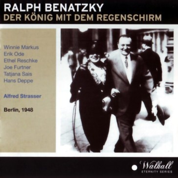 "The CD cover of Walhall's edition of ""Der König mit dem Regenschirm."""