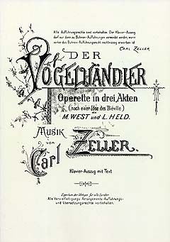 "The piano score for ""Der Vogelhändler""."