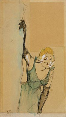 Yvette Gilbert, as seen by Toulouse-Lautrec.