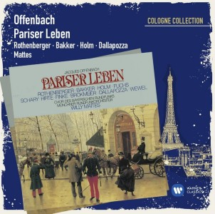 "Warner's re-release of Offenbach's ""Pariser Leben,"" sung in German."