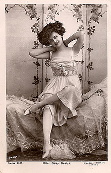 Gaby Deslys (1881-1920), a danseuse, from Marseilles, France.