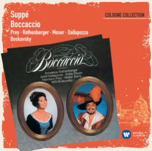 """Warner's version of """"Bocaccio"""" with Hermann Prey in the title role."""