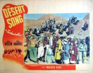 "An advert for the 1943 release of ""The Desert Song."""