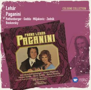 "The new re-re-lease of Lehár's ""Paganini"" with opera stars Nicolai Gedda and Anneliese Rothenberger."