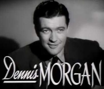 "Dennis Morgan in the trailer for the film ""The Hard Way"" (1943)."