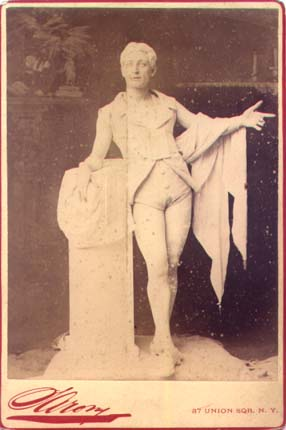 Henry Dixey as the marbel statue of Adonis.
