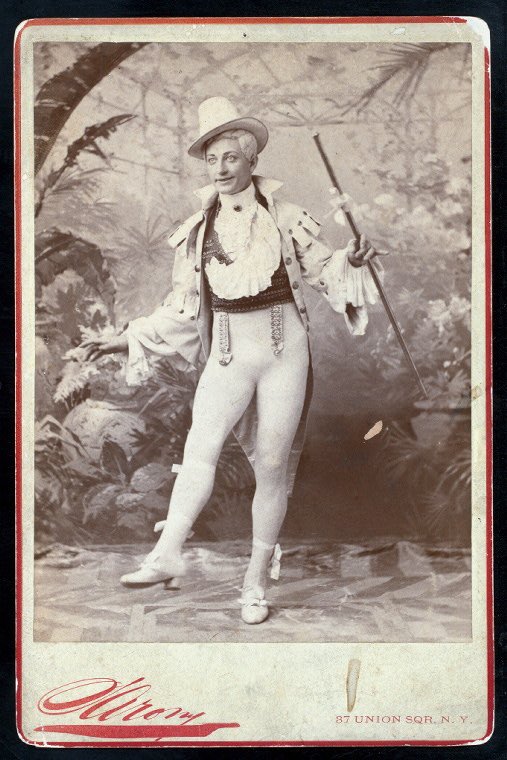 "Henry E. Dixey in ""Adonis,"" 1884, photographed by Sarony."