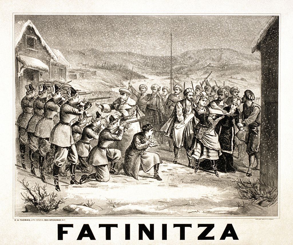 "Poster for Franz von Suppé's ""Fatinitza."""
