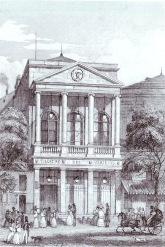 The Theatre des Varietes in Paris.
