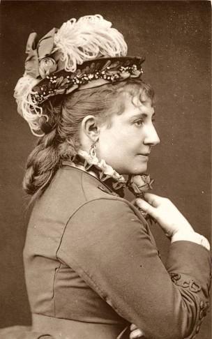 Lydia Thompson in a formal portrait.