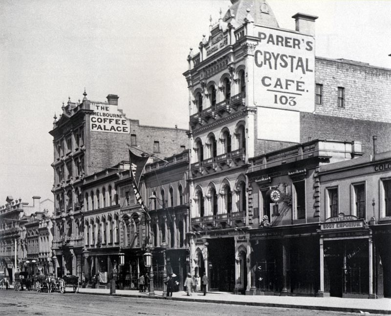 The Theatre Royal in Melbourne was opened in 1855 and demolished by fire in 1872.