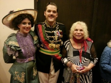 "Natalie Ballenger, Clark Sturdevant, Yvonne Kalman after performance of ""The Little King"""