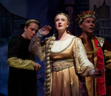 "Emily Nelson as Elsa, ""A typical grand operatic maiden in the usual distressing predicament."" (Photo: Matt Dilyard/OLO)"
