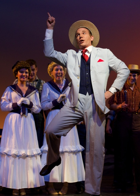 Nathan Brian demonstrating that operetta actors can dance - very well. (Photo: Matt Dilyard/OLO)