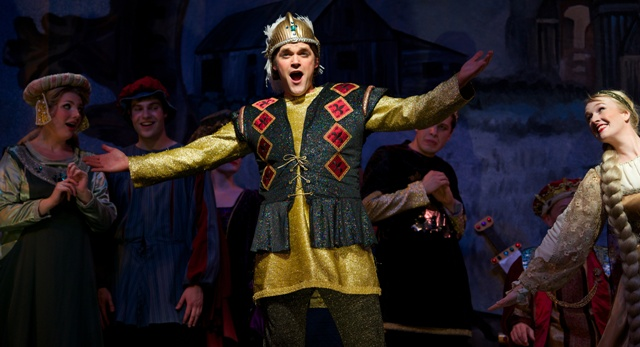 "Tenor Clark Sturdevant as Lohengrin, ""A professional rescuer of distressed maidens."" (Photo: Matt Dilyard/OLO)"