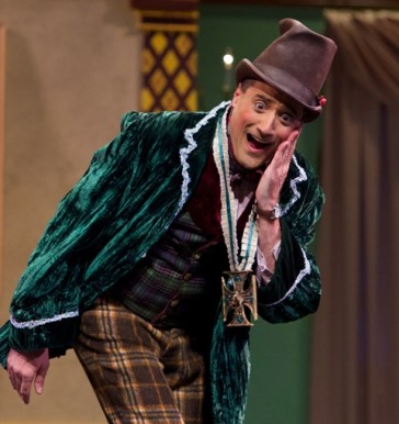 "Anthony Maida evoking the grand Viennese comedy tradition as the poor poet Huck in ""The Little King."""