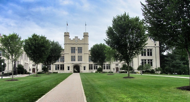 The College of Wooster, Ohio. A view of the campus.