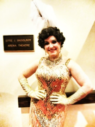 "OLO's star Alexa Devlin who took on the Ethel Merman part in ""Call Me Madame."""