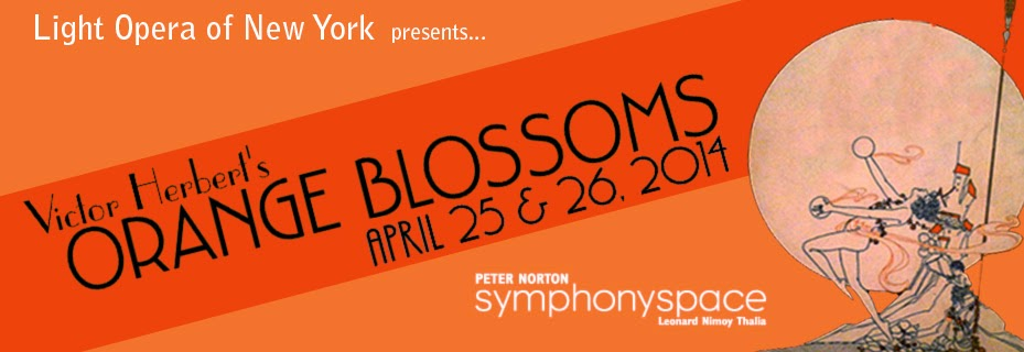 "Poster for the LOONY production of ""Orange Blossoms."""