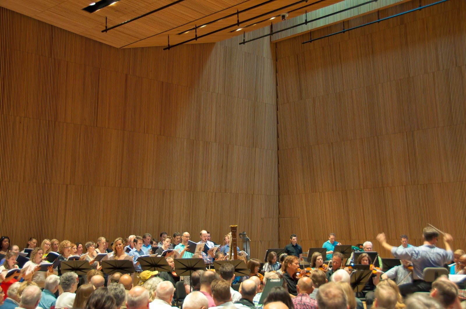 "Gerald Steichen leads his forces at Sunday's concert reading of Victor Herbert's ""Natoma."" (Photo: Clifton Pierce)"