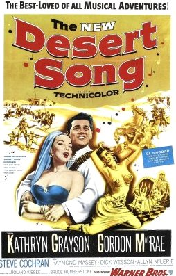 "The cover of the DVD release of the 1950s version of ""The Desert Song."""