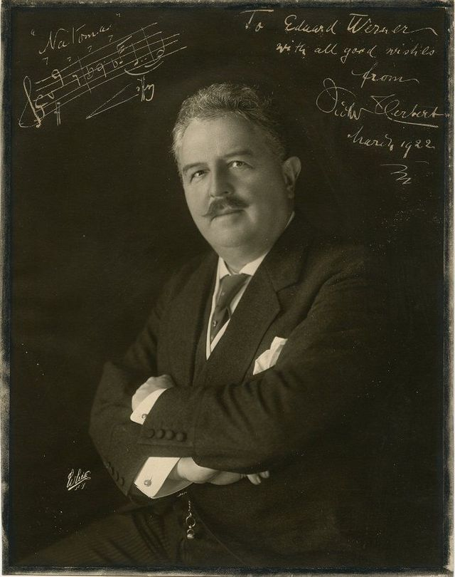 "Victor Herbert, signed photo with ""Natoma"" musical quotation, 1922 (Photo: Wikipedia)"