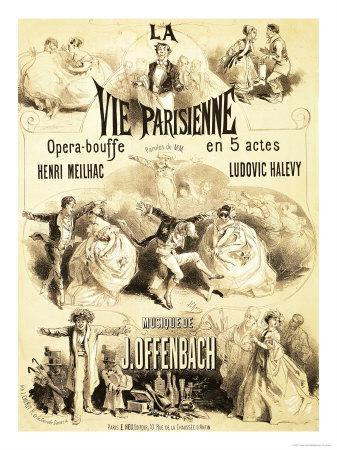 "Score cover for the 5-act version of ""La Vie Parisienne."""