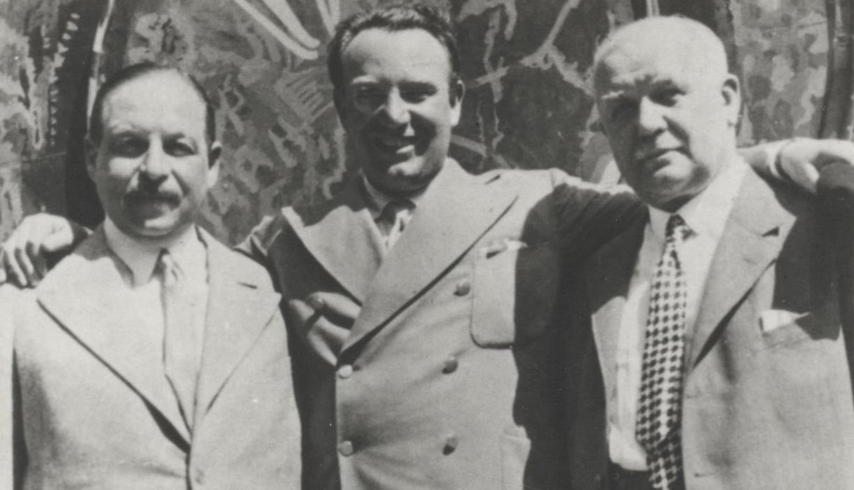 Richard Tauber and composers Lehár and Kálmán.