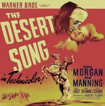"The cover of the new DVD release of ""The Desert Song,"" 1943 Hollywood version."