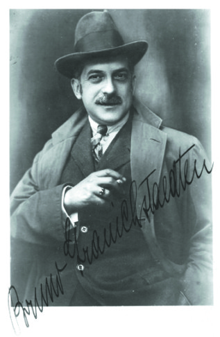 Bruno Granichstaedten, the 1920s star composer. Autographed postcard from the archive of Ernst Kaufmann.