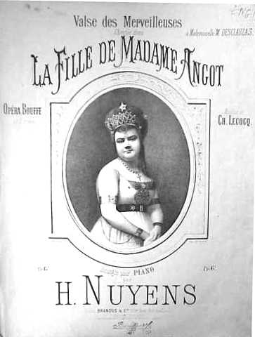 "Marie Desclauzas in ""La fille""."