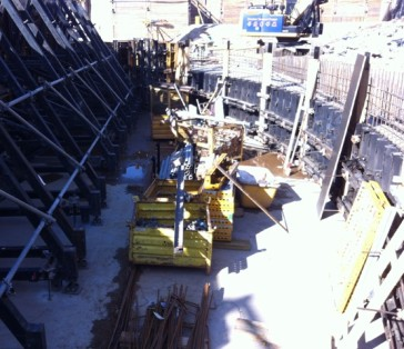 The future orchstra pit. (Photo: Staatsoperette Dresden)