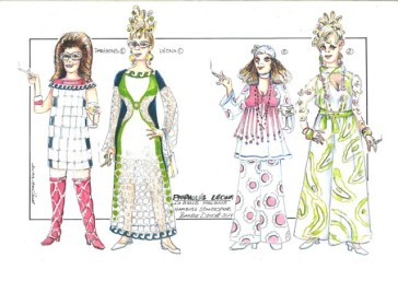 Costume designs by Andre Barbe for the Hamburg production 2014. (Photo: Hamburger Staatsoper)