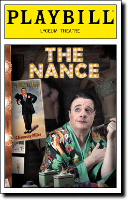 """The Nance,"" Playbill of the 2013 play by Douglas Carter Beane, starring Nathan Lane."