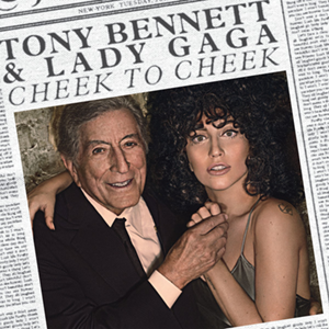 "Lady Gaga and Tony Bennett on the cover of ""Cheek to Cheek"" (Colmbia Records.)"
