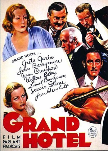 "Poster for the film ""Grand Hotel"" which inspired ""Axel an der Himmelstür."""