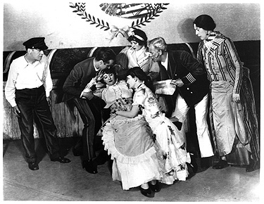 "Helen Morgan fainting, in the original stage productions of ""Show Boat."" (Photo: Rodgers & Hammerstein Foundation/rnh.com)"