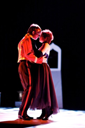 "Chloe Wright and Paul Darnell as Hanna and Danilo in Lehár's ""Merry Widow""."